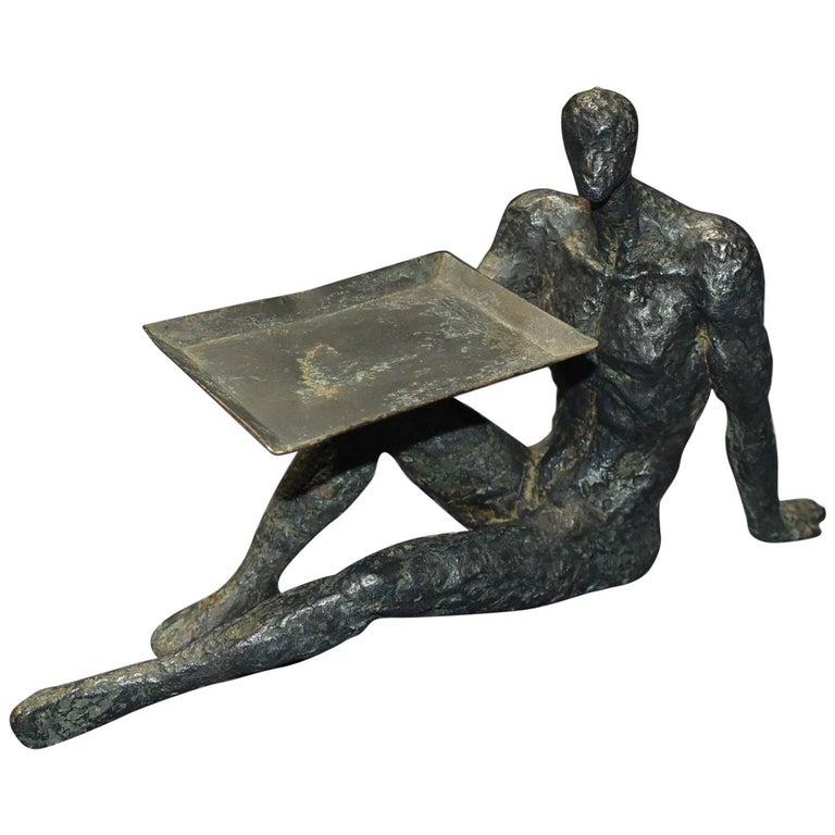 Sculptural Business Card Holder For Sale