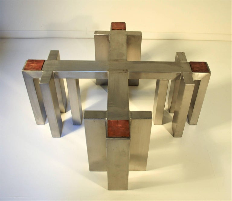 Sculptural Cast Bronze Coffee Table, 1985 For Sale 5