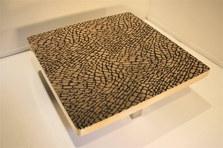 Sculptural Cast Bronze Coffee Table, 1985 For Sale 2
