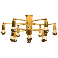 Sculptural Ceiling Fixture Lamp Flush Mount Leola Sciolari 1960s-1970s Light