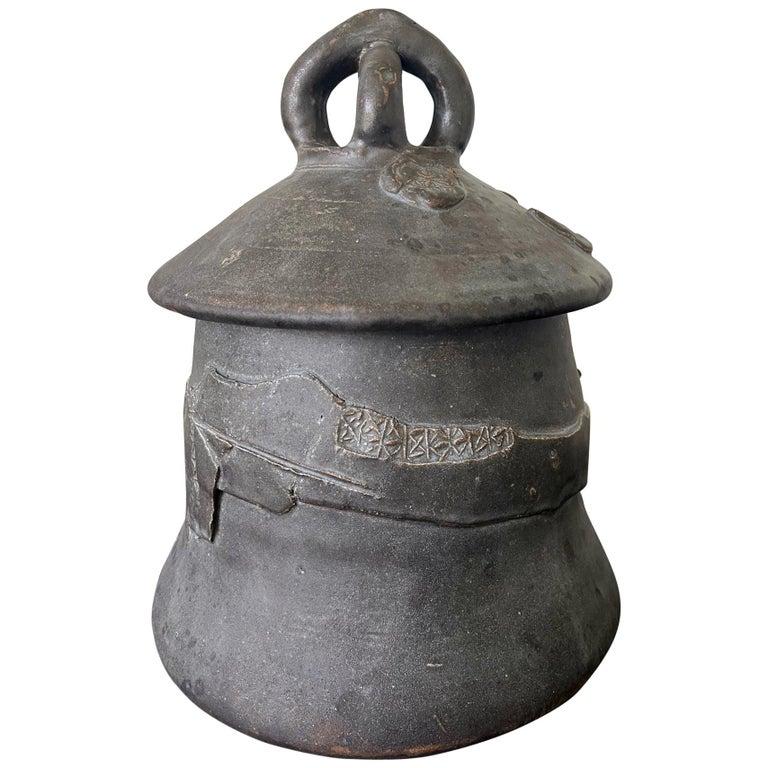 Sculptural Ceramic Ashanti Jar Robert Turner Published For Sale