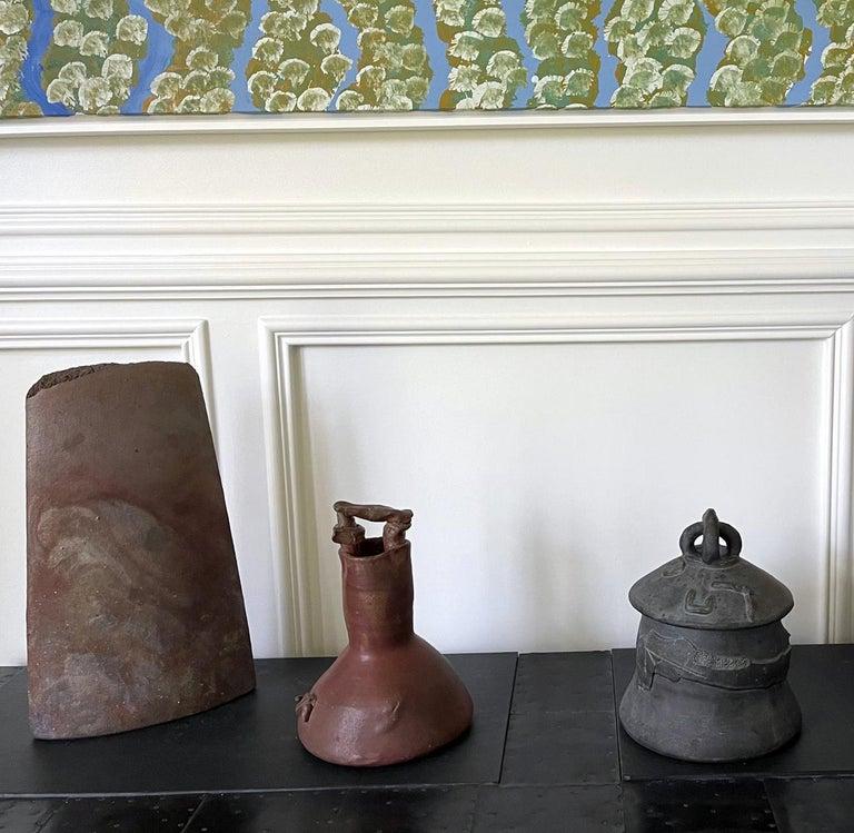 Sculptural Ceramic Handled Vase by Robert Turner For Sale 10