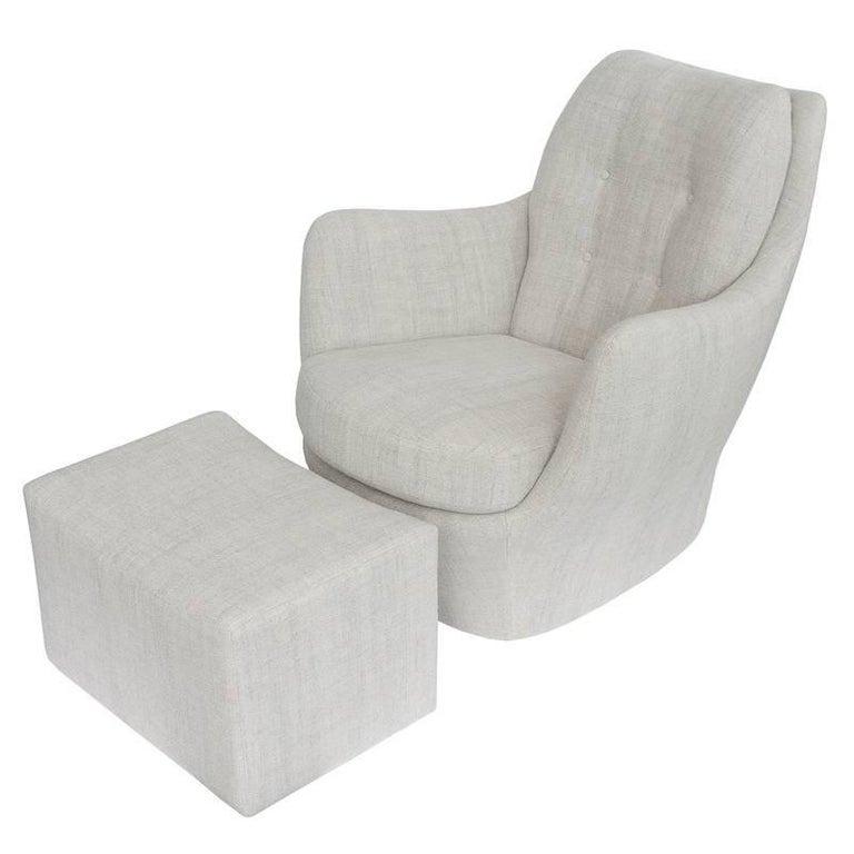 Sculptural Chair and Ottoman by Milo Baughman for Thayer Coggin