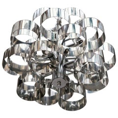 Sculptural Chrome Chandelier by Sciolari