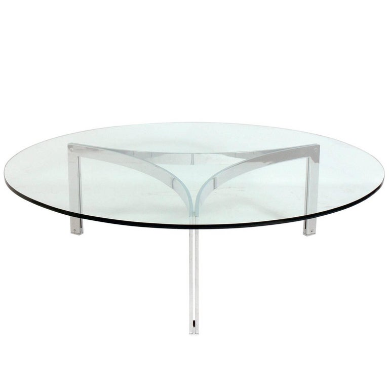 Sculptural Chrome Coffee Table Attributed To Fabricius And Kastholm