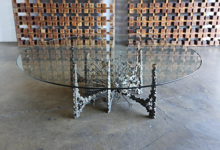 Sculptural Coffee Table by Daniel Gluck In Good Condition For Sale In Costa Mesa, CA