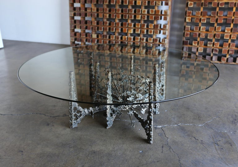 Glass Sculptural Coffee Table by Daniel Gluck For Sale