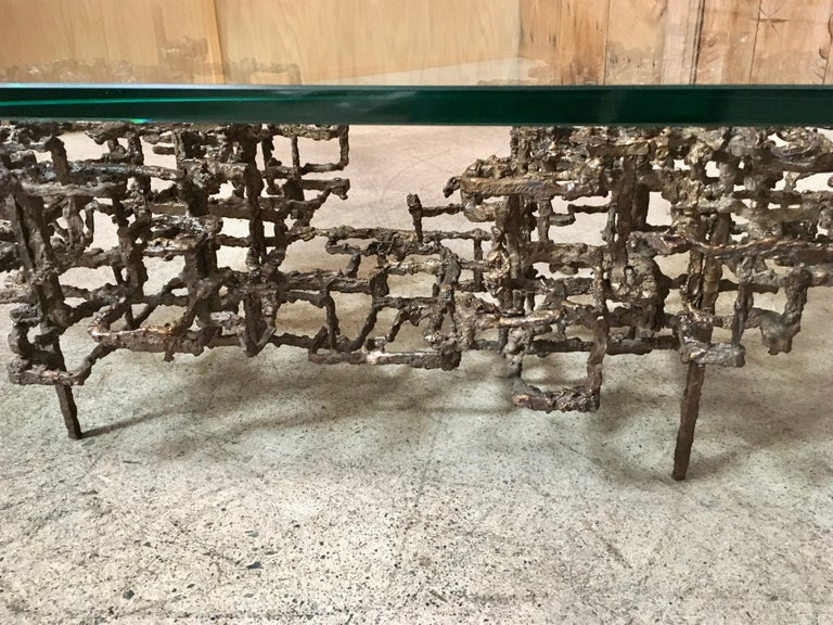 Sculptural Coffee Table in the Style of Daniel Gluck For Sale 5