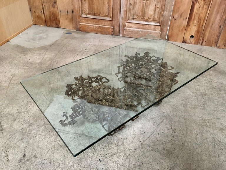 Sculptural Coffee Table in the Style of Daniel Gluck For Sale 7