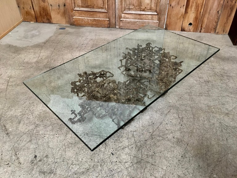 Sculptural Coffee Table in the Style of Daniel Gluck In Good Condition For Sale In Laguna Hills, CA