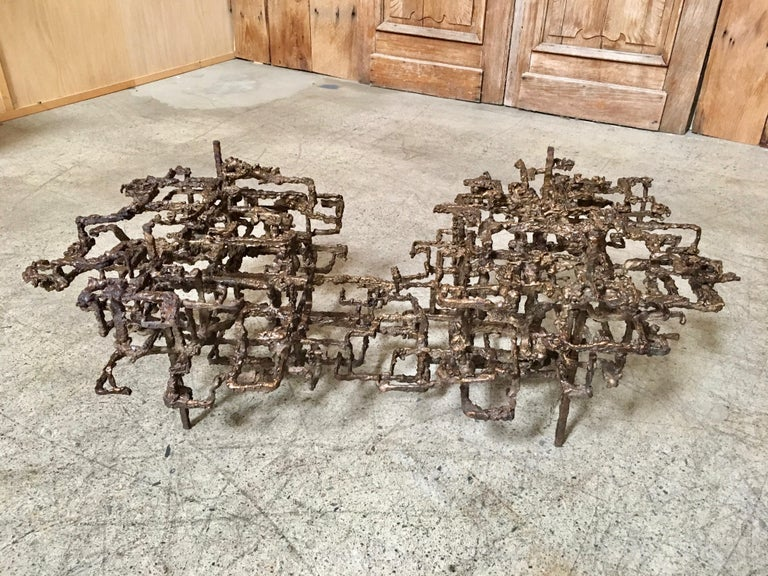 Sculptural Coffee Table in the Style of Daniel Gluck For Sale 1