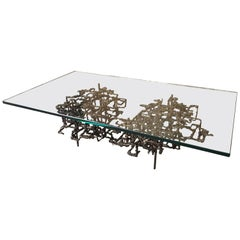 Sculptural Coffee Table in the Style of Daniel Gluck