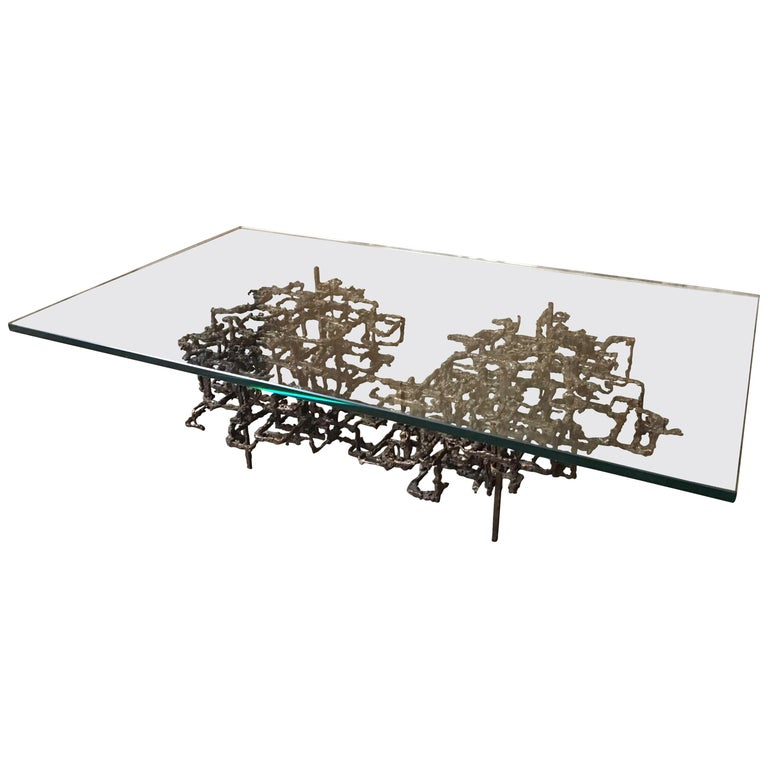 Sculptural Coffee Table in the Style of Daniel Gluck For Sale