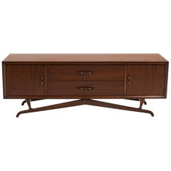 Sculptural Credenza / Sideboard / Media Cabinet in the Style of Vladimir Kagan