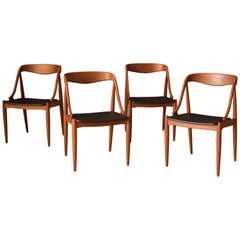 Sculptural Danish Dining Chairs by Johannes Andersen