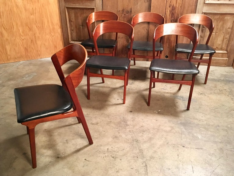 Sculptural Danish Modern Dining Chairs For Sale 4