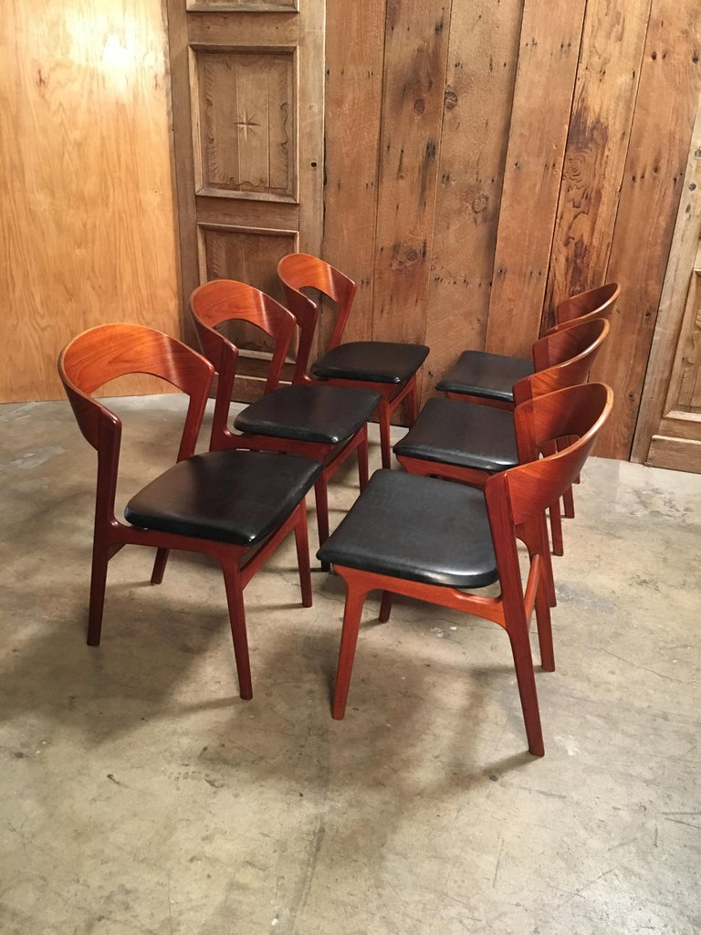 Sculptural Danish Modern Dining Chairs For Sale 5