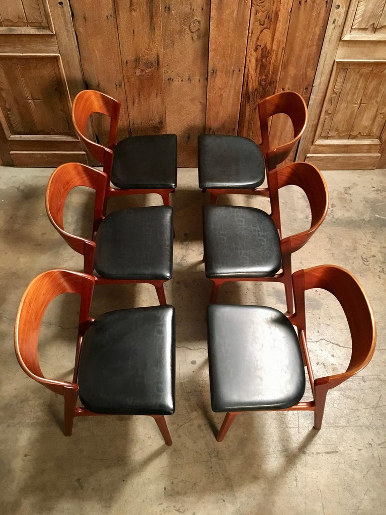Sculptural Danish Modern Dining Chairs For Sale 6