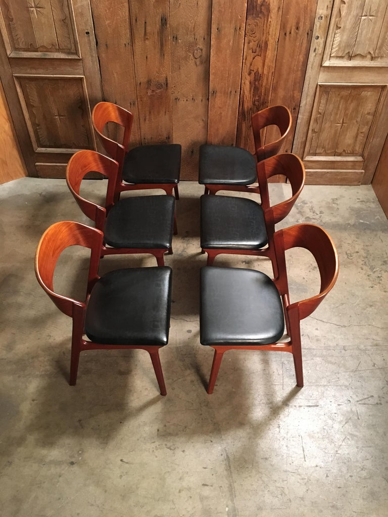 Sculptural Danish Modern Dining Chairs For Sale 7