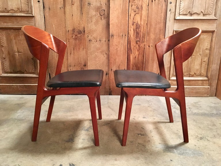 Sculptural Danish Modern Dining Chairs For Sale 8