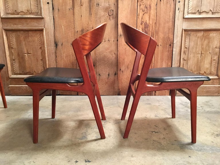 20th Century  Sculptural Danish Modern Dining Chairs For Sale