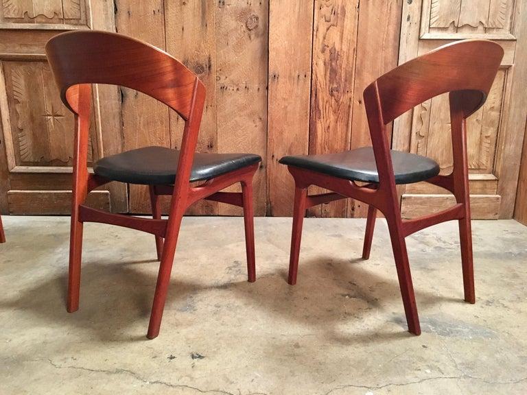 Teak  Sculptural Danish Modern Dining Chairs For Sale