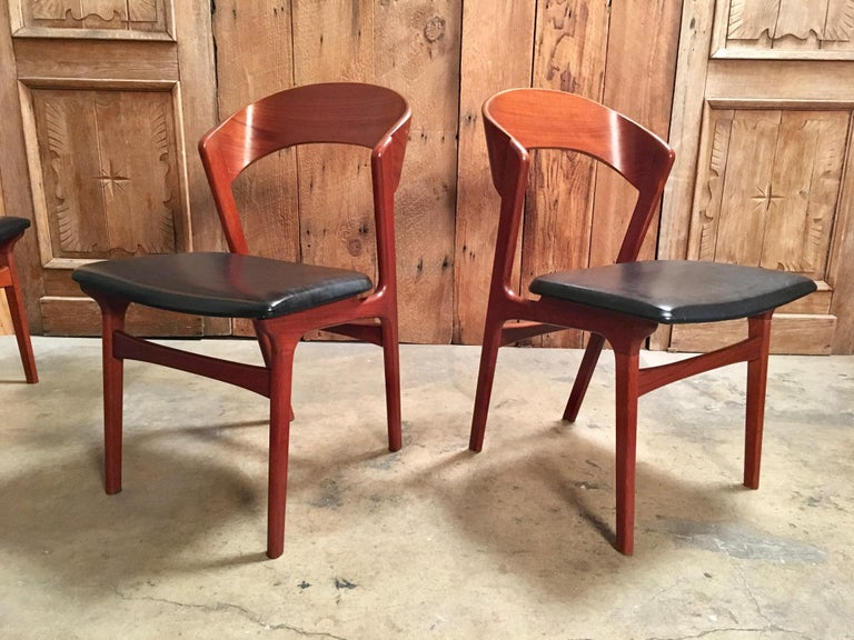 Sculptural Danish Modern Dining Chairs For Sale 1
