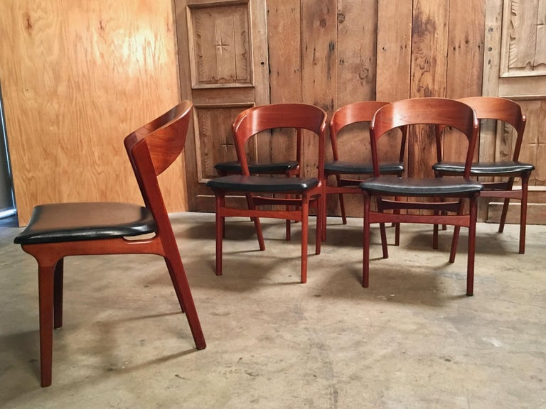 Sculptural Danish Modern Dining Chairs For Sale 2