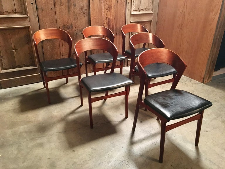 Sculptural Danish Modern Dining Chairs For Sale 3