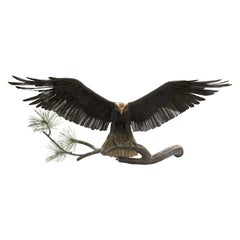 Sculptural Eagle Welded Bronze by Mike Curtis and Chester Field