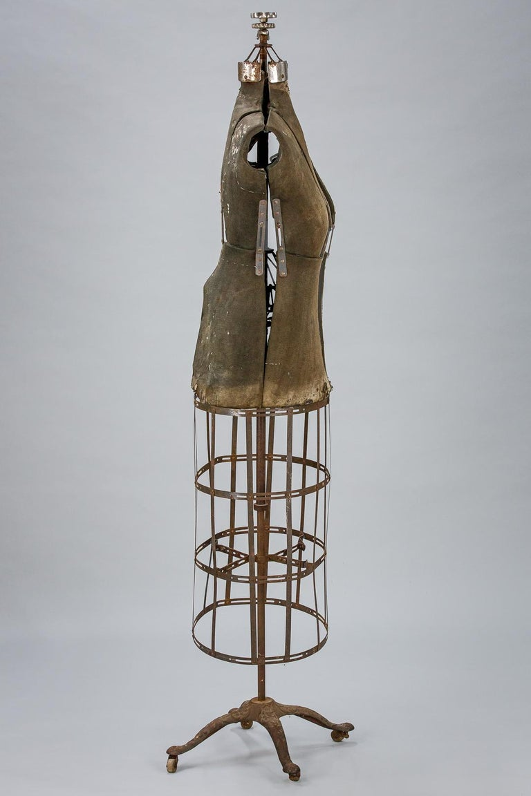 Sculptural Early 20th Century Dressmakers Mannequin For Sale 11