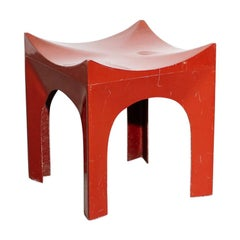 Sculptural Fiberglass Stool