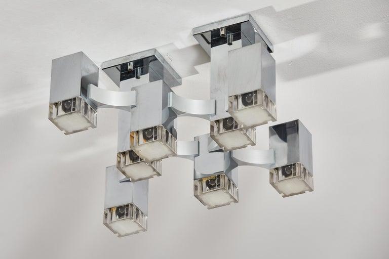 Sculptural Flush Mount Ceiling Light by Gaetano Sciolari For Sale 3