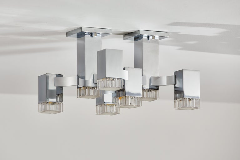 Sculptural Flush Mount Ceiling Light by Gaetano Sciolari For Sale 6