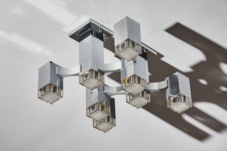 Sculptural Flush Mount Ceiling Light by Gaetano Sciolari For Sale 1