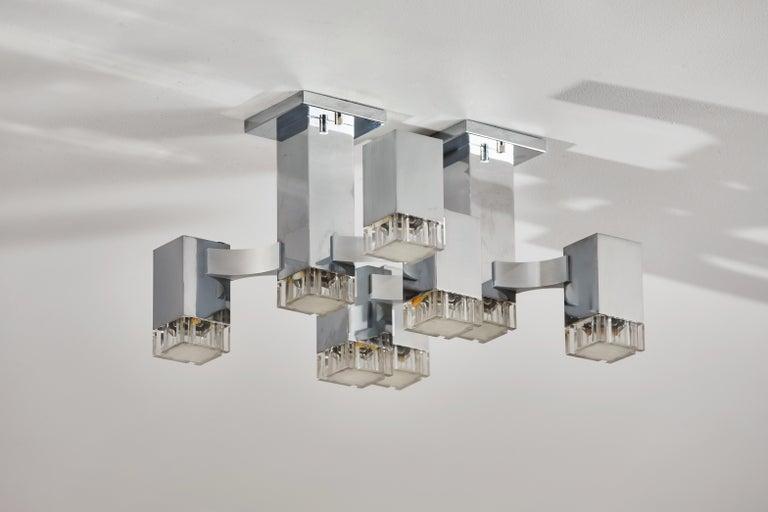 Sculptural Flush Mount Ceiling Light by Gaetano Sciolari For Sale 2
