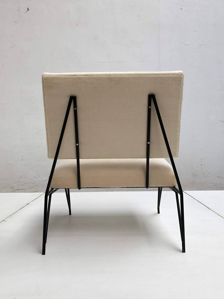 Italian Sculptural Form Lounge Chair Attributed to Ravegnati & Vincenzi for D'arbo, 1950 For Sale
