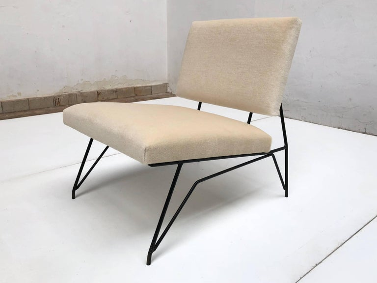 Enameled Sculptural Form Lounge Chair Attributed to Ravegnati & Vincenzi for D'arbo, 1950 For Sale