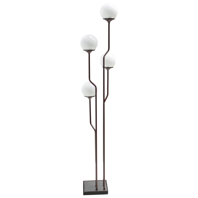 Sculptural Four Light Floor Lamp By Reggiani Italy For