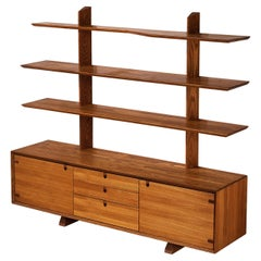 Sculptural French Highboard in Elm