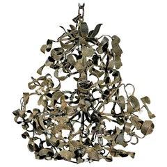 Sculptural French Mistletoe Light Fixture