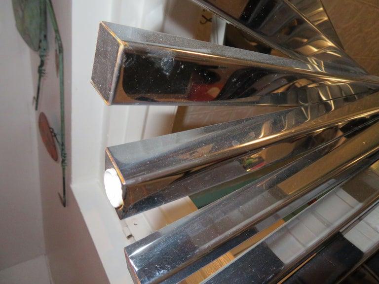 Mid-20th Century Sculptural Gaetano Sciolari Spiral Chrome, Mid-Century Modern Chandelier For Sale