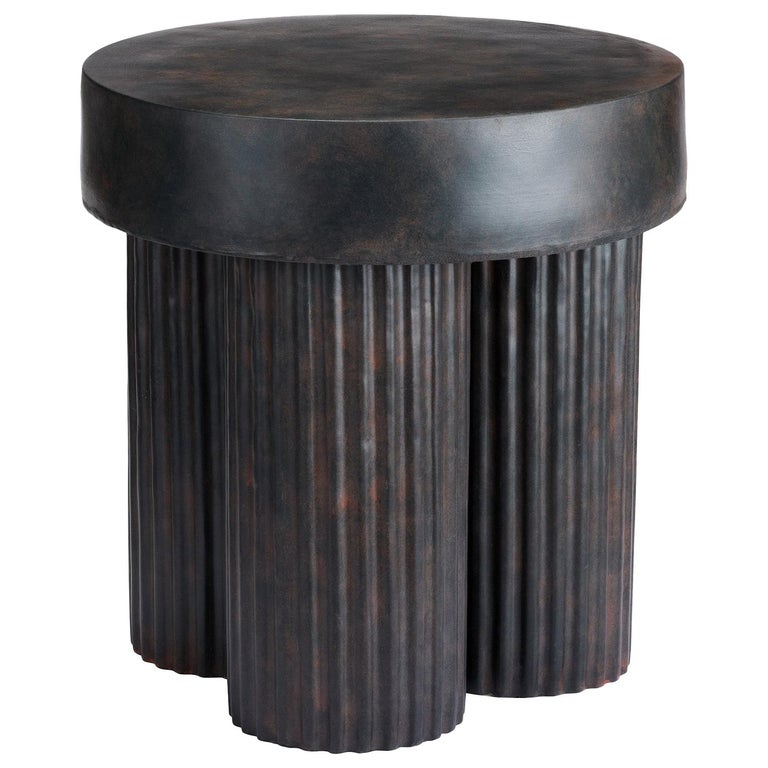 Sculptural Gear Side Table For Sale