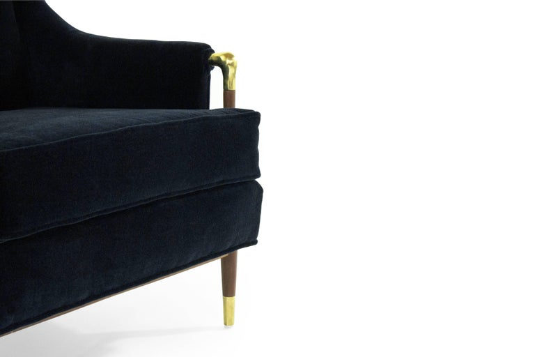 Sculptural Gio Ponti Style Lounge Chair, 1950s For Sale 4