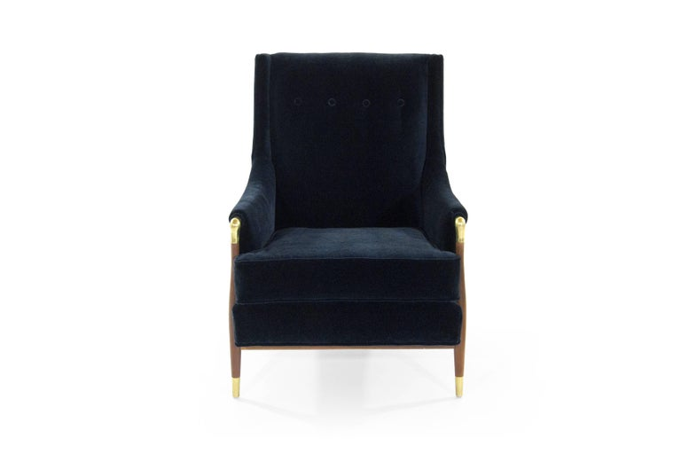 Sculptural Gio Ponti Style Lounge Chair, 1950s In Excellent Condition For Sale In Stamford, CT