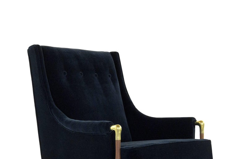 20th Century Sculptural Gio Ponti Style Lounge Chair, 1950s For Sale