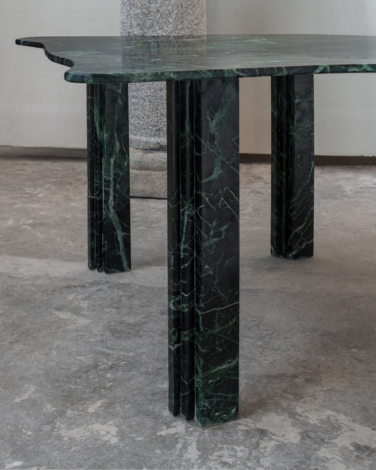 Sculptural Green Marble Coffee Table by Lorenzo Bini In New Condition For Sale In Geneve, CH