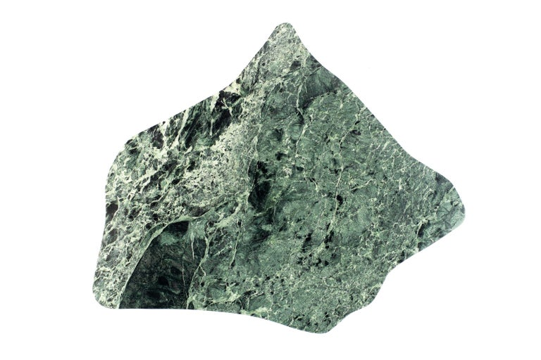 Organic Modern Sculptural Green Marble Table, Lorenzo Bini For Sale
