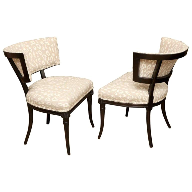 Sculptural Grosfeld House Side or Slipper Chairs Mid-Century Modern For Sale