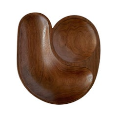 Sculptural Hand Carved Walnut Bowl by Foxwood Co.